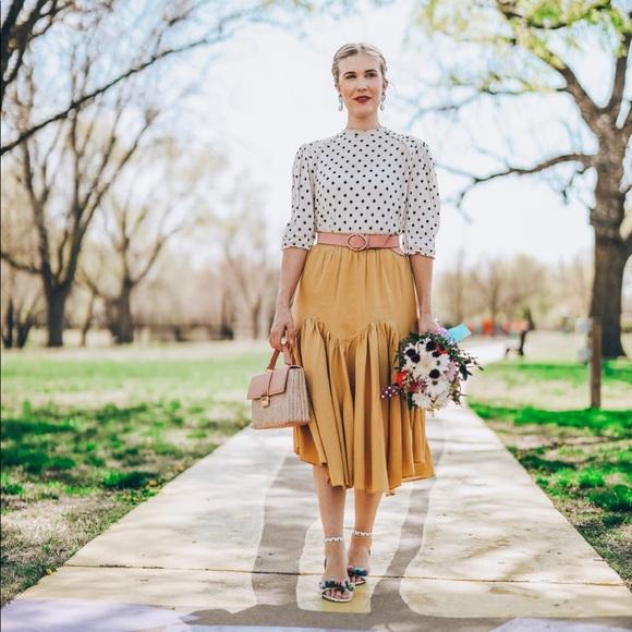Chicwish Brightening Your Beauty Midi Skirt